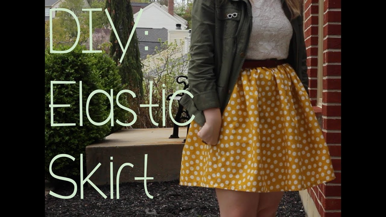 diy high waisted elastic skirt remiiroo