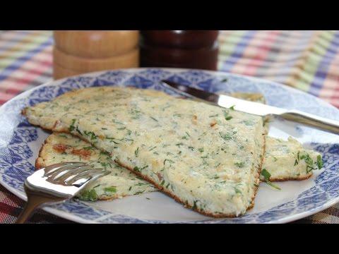 Оригинальный рецепт Очень вкусного Омлета с сыром и зеленью.