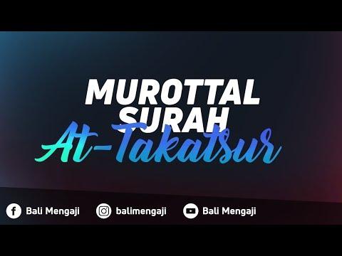 Murottal Surah At-Takatsur - Ust Ayman Abdillah, Lc