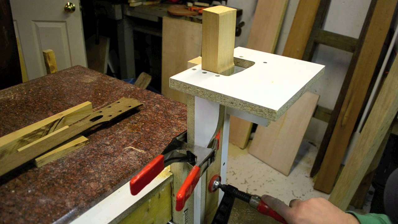luthier cutting a perfect les paul neck tenon for your