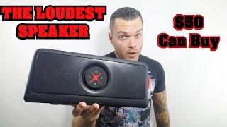 Loudest Bluetooth Speaker   Best Portable Speaker for $50 2016! Bass Heavy