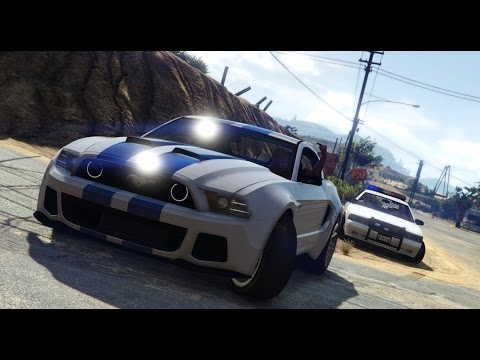GTA V | NFS Movie Shelby Mustang | Police Chase! | PC MOD