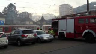 Incendie  la gare AOMC de Monthey 2