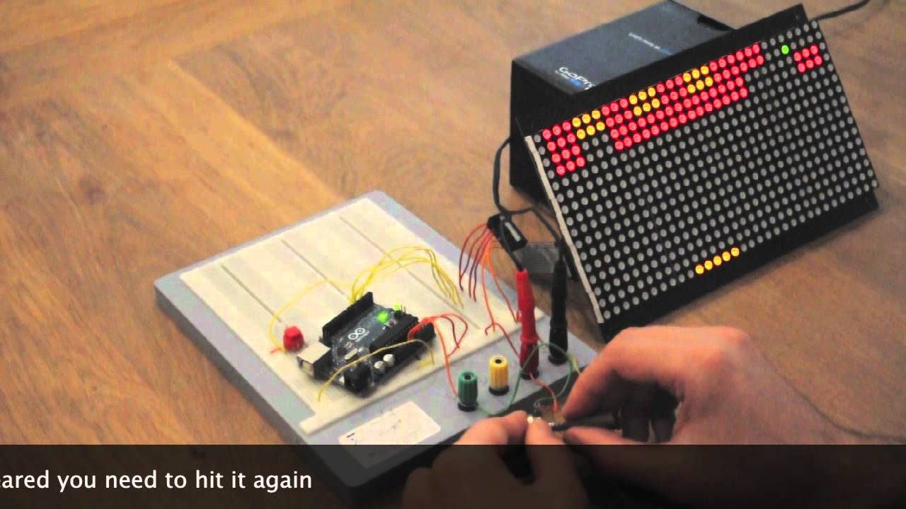Arduino breakout game on a led dot matrix display youtube