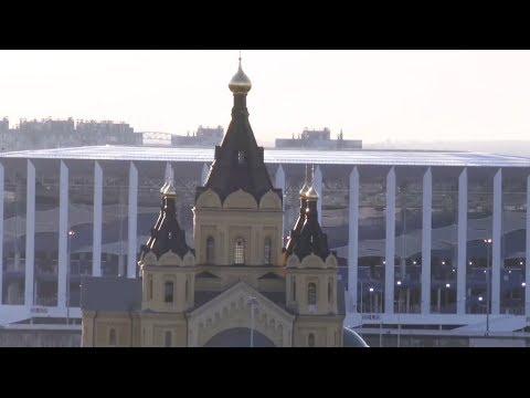 Нижний Новгород: гигантский стадион и город за баннерами | НАСТОЯЩИЙ ФУТБОЛ