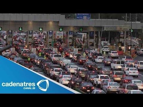 Capitalinos abarrotan la caseta Cuernavaca- México tras concluir periodo vacacional