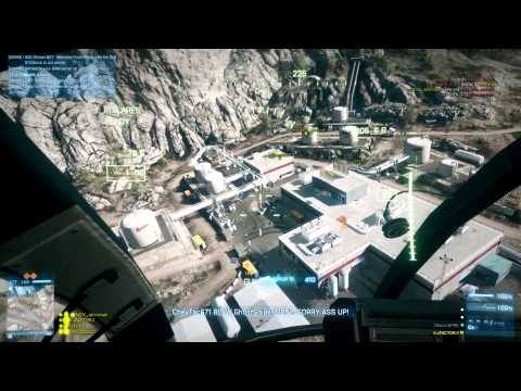 53-2 Damavand Peak Rush - G3A3 littlebird tank gameplay - Battlefield 3 Raw Rounds