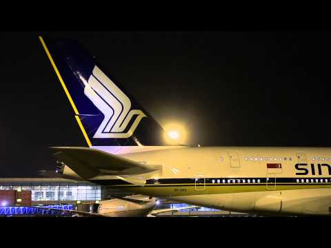 First A380 service to India Singapore Airlines A380 9V-SKB at New Delhi