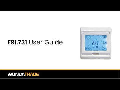 E91 713 Touchscreen Thermostat User Guide