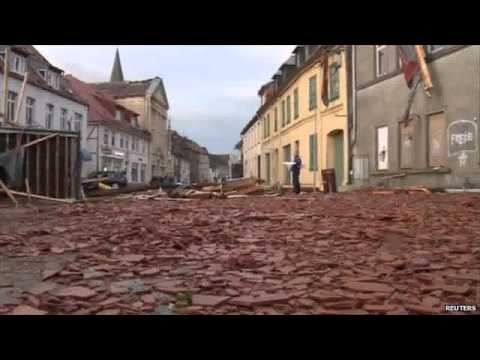 Tornado as violent storms batter northern Germany