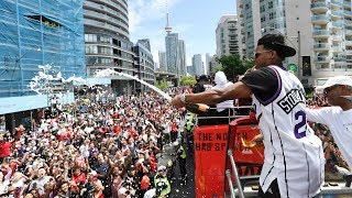 Massive parade takes over Toronto to celebrate Raptors NBA championship