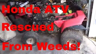 1986 Honda TRX200SX, ATV dragged from weeds, given an assessment!