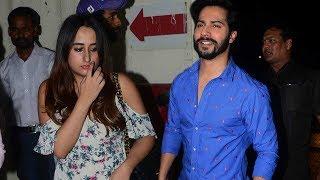 Download Varun Dhawan With Girlfriend Natasha Dalal At Judwaa 2 Special Screening 3Gp Mp4
