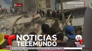 Fuerte sismo de 7.1 grados sacude a México   Noticias   Noticias Telemundo