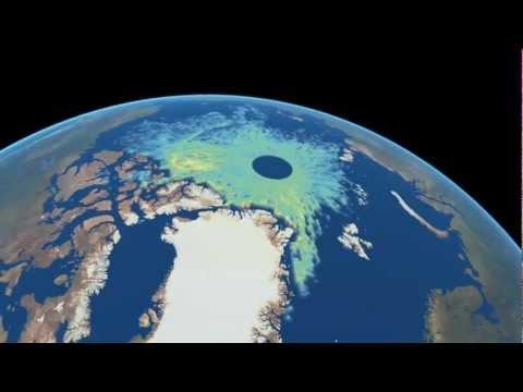 Mapa del hielo ártico