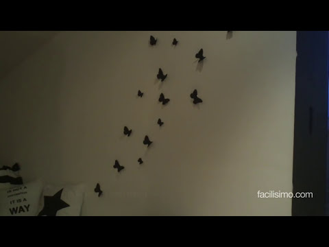 Cómo decorar la pared con mariposas | facilisimo.com