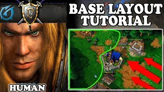 Grubby | Warcraft 3 TFT | 1.30 | HUMAN Base Layout TUTORIAL
