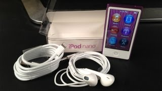 New Apple iPod nano 7th Generation Unboxing (7G 2012 Model) and Overview