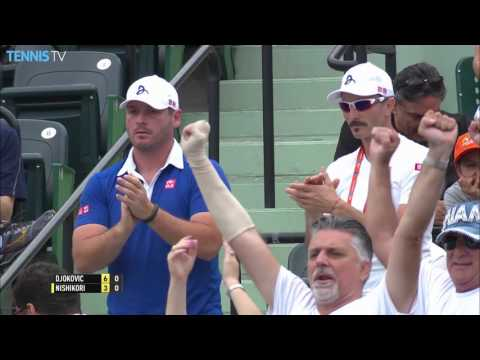 Djokovic Tops Nishikori Miami 2016 Final Highlights