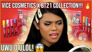 VICE COSMETICS X BT21 MAKEUP COLLECTION ON DARK SKIN & LIPS! OH ANU MGA ARMY?! + HUGE GIVEAWAY!!!