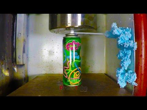 Hydraulic Press   Silly String   PressTube