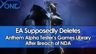 EA Supposedly Deletes Anthem Alpha Tester