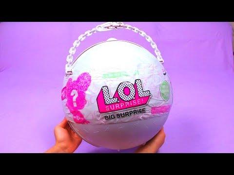БЕЛЫЙ Гигантский Шар ЛОЛ LOL Surprise Giant Ball LOL BIG SURPRISE BOLA GIGANTE