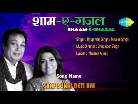 Saaf Sunai Deti Hai HD Full Song | Shaam E Ghazal | Bhupinder...