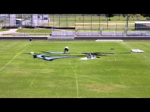 Nature Coast Technical High School  - Football Field Logo - Time Lapse