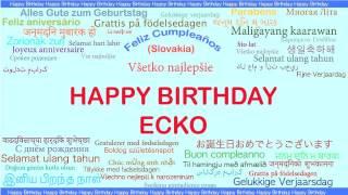 Ecko   Languages Idiomas - Happy Birthday