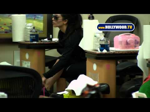 Kim Kardashian Gets Nails Done at Beauty Salon
