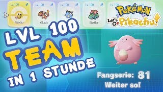 LVL 100 TEAM IN EINER STUNDE! #02 Pokemon Let's Go Pikachu & Evoli - Tipps & Tricks!