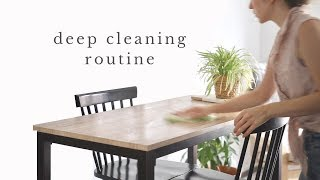 CLEAN WITH ME | deep cleaning our tiny apartment (non-toxic, minimalist)