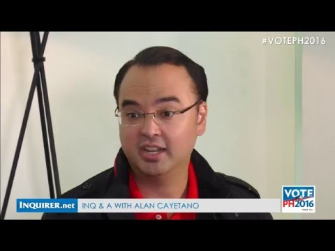INQ & A with Alan Peter Cayetano