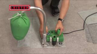 Groove cutting with Leister GROOVER for floor coverings   YouTube 480p