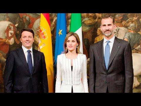 Re di Spagna Felipe e Regina Letizia da Matteo Renzi Palazzo Chigi