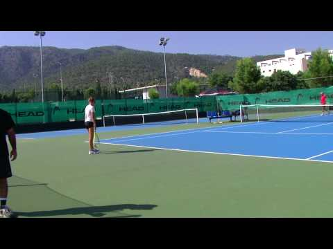 Guillermo Vilas tennis academy spain , Natalia Perepadenko and Sandra Soler in Casali courts.