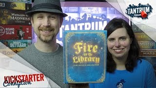 Fire in the Library Board Game Preview