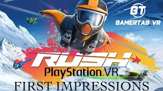 Rush Single and Multiplayer First Impressions Gameplay for Playstation VR