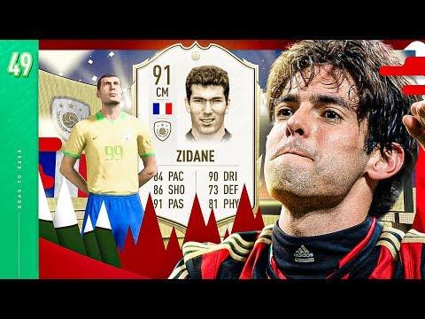 ICON ZIDANE IN A PACK!! OMG!!! - FIFA 20 KAKA ROAD TO GLORY #49