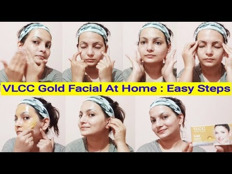 Step By Step : Easy 6 Step Facial At Home In Hindi   VLCC Gold Facial Kit  AlwaysPrettyUseful