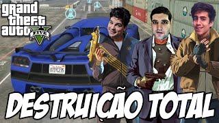 GTA V - Corrida da Loucura e DESTRUIÇÃO TOTAL