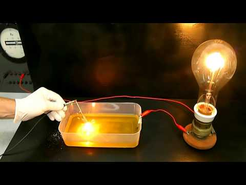 Experiment electricity with salt water