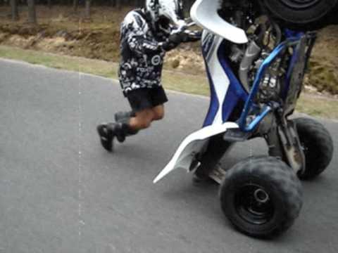 Yamaha Raptor Wheelie