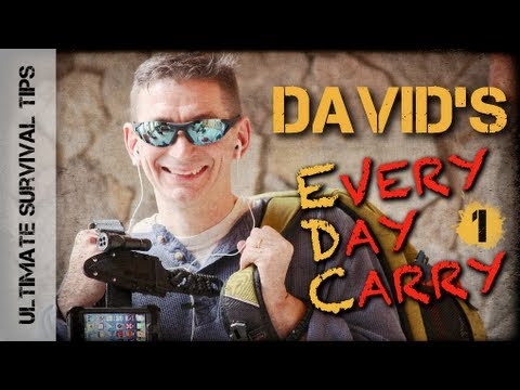 David's Every Day Carry #1- Cool NEW EDC Survival Gear for BOB. Emergency. Survival & Disasters