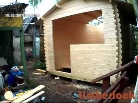 Дачный домик из профилированной доски своими руками