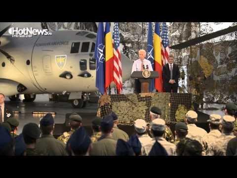 Discursul vicepresedintelui SUA, Joe Biden, la baza aeriana 90 Otopeni
