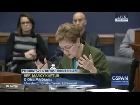 Rep. Kaptur Questions Defense Sec. Carter at Appropriations Committee Hearing