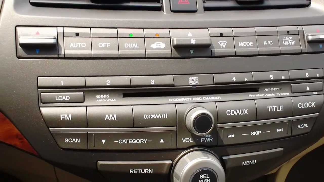 How To Use Dual Zone Climate Control On Honda Youtube
