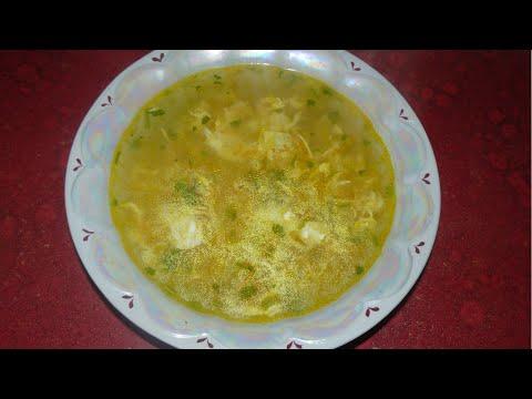 Легкий картофельный суп с яйцом  Вкусный суп за 20 минут